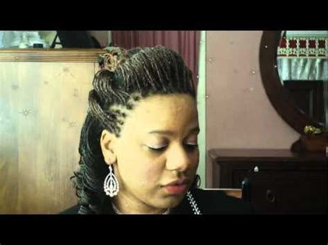 MICROBRAIDS: 1/2 Up 1/2 Down DOUBLE HUMP (BUMP) Hairstyle