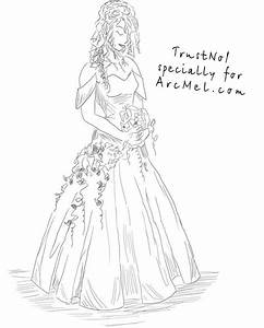 How to draw a bride step by step | ARCMEL.COM