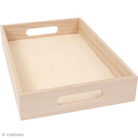 emporte rectangulaire cuisine plateau en bois à décorer grand modèle 37 cm plateau