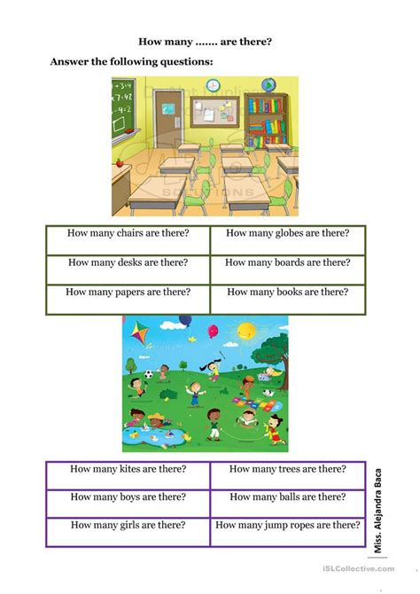 How Many Are There? Worksheet  Free Esl Printable Worksheets Made By Teachers