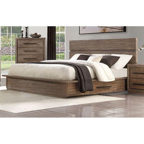 modern rustic pine king platform bed haven rc willey
