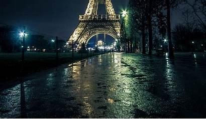 Paris Tower Night Eiffel Street France Wallpapers