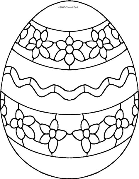 Coloring Pages For Easter Eggs Printable