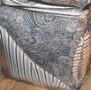 ralph ashbourne blue paisley king or comforter set new 1st quality ebay