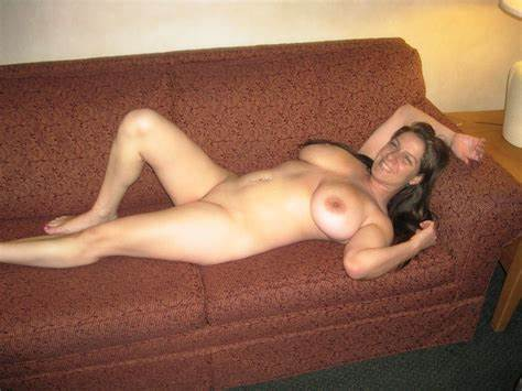 Plump Mother Nude In Sofa