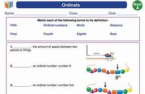New  Free 1st Grade  Vocabulary  Worksheet About Ordinals
