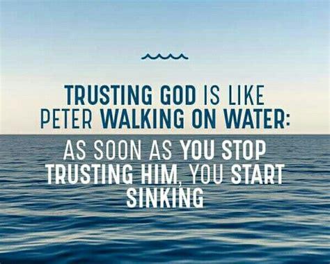 Pin by Karen T on Faith and God   Trust god, Peter walks ...