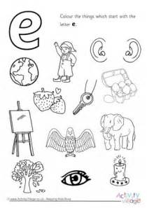 things that start with the letter e initial letter colouring pages 30321