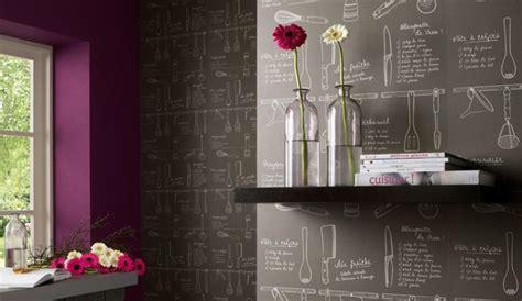 papier peint cuisine original les motifs rêvent les murs de la cuisine