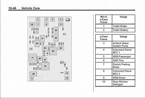 2012 Gmc Acadia Fuse Diagram