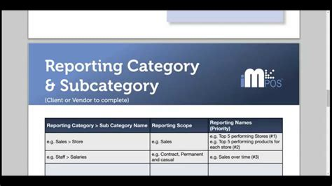 yellowfin report specification template youtube