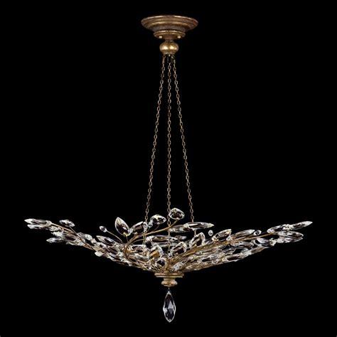 lustre cristal en bouquet de branchages vieil or collection laurel ls