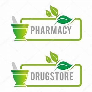 Logo pharmacy mashed drugs organic product icon vector ...