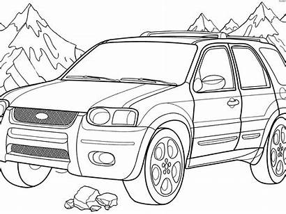 Suv Drawing Coloring Ford Gt40 Pages Printable