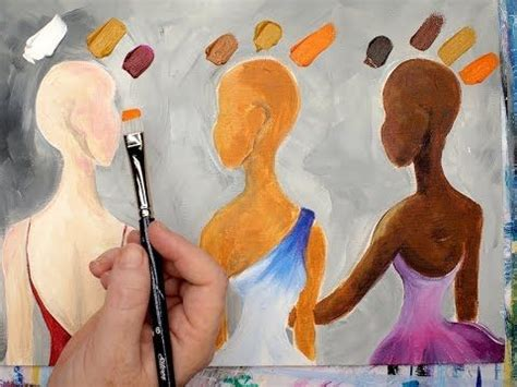 learn how to mix 3 skin colors in acrylic paint this