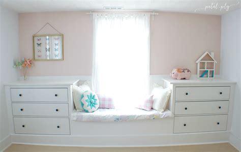 Double Dresser Window Seat Built-in With Ikea Hemnes