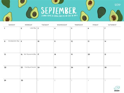 foodie collection  calendar imom