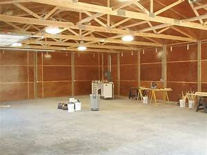 All in one builders west michigan pole barns garages for Pole barn garage interior ideas