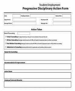 employee discipline form 6 free word pdf documents With progressive discipline template