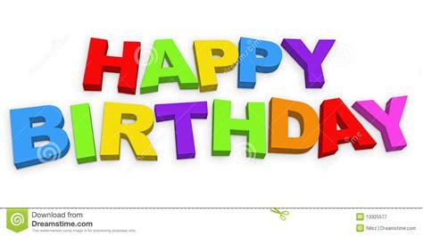 happy birthday letters stock illustration illustration