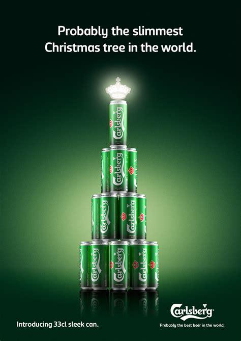 carlsberg sleekcan christmas tree gute werbung