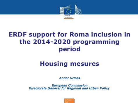 erdf si鑒e social erdf support for roma inclusion in the 2014 2020 programming period