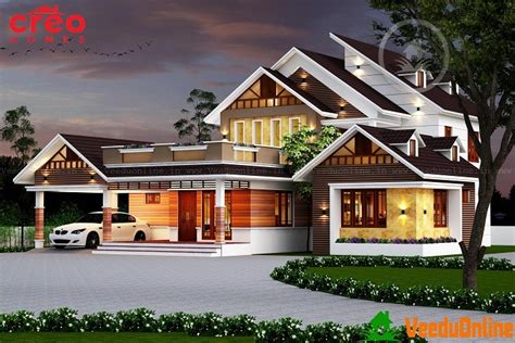 excellent double floor kerala home designs