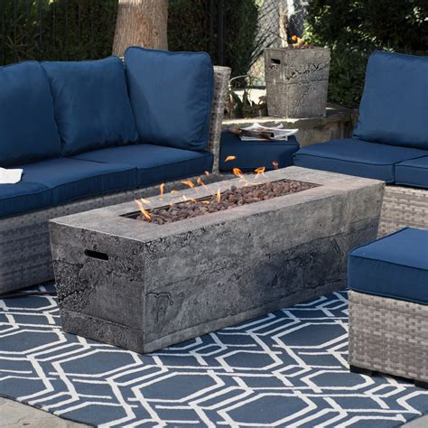 Walmart Dining Table 4 Chairs by Red Ember Glacier Stone 60 In Gas Fire Pit Table With