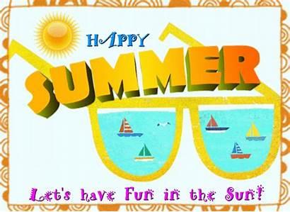 Summer Fun Sun Happy Let Card Lets