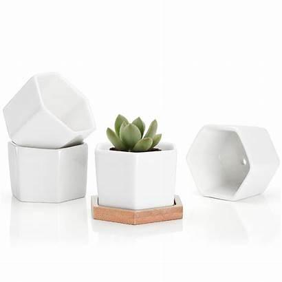 Ceramic Pots Plant Hexagon Pot Flower Succulent