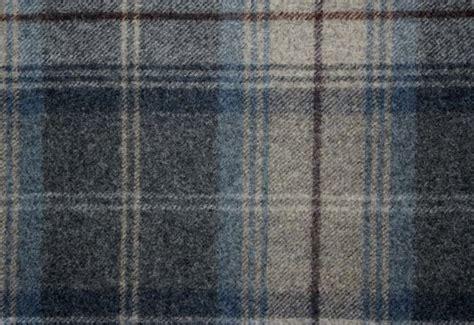 woodford plaid wool tartan fabric  blue charcoal