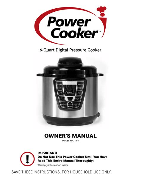 cooker pressure xl manual power cooking owner