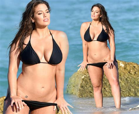 Ashley Graham Plus Size Model Strips To Lingerie For Very