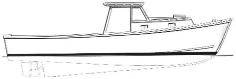Boat Hull Outline by Commercial Fishing Boat Drawing Clipart Panda Free