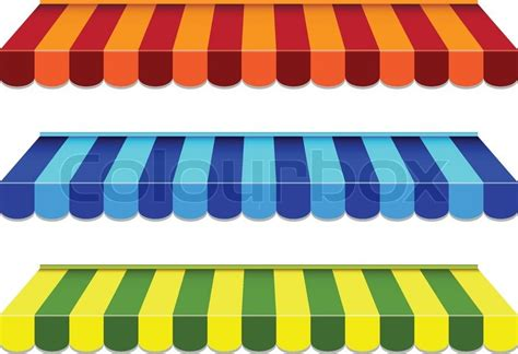 home building plans free set of striped awnings stock vector colourbox
