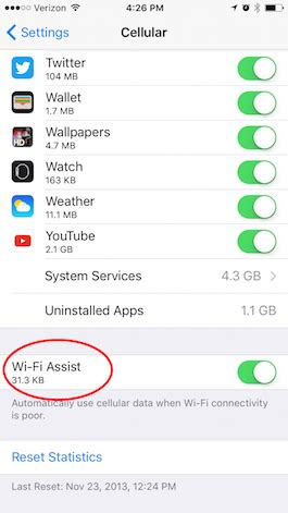 how to check how much data used on iphone how to see how much data wi fi assist uses iphonelife