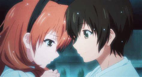 Anime Kiss Gif Cute Anime Couples Gifs Wifflegif