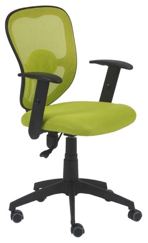 eurostyle quincy swivel office chair w lime green fabric