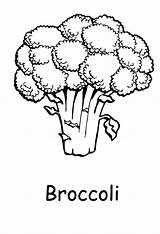 Broccoli Coloring Pages Healthy Clipart Printable Vegetables Brocolli Template Goblin Library Clip Popular Printables Getcolorings Templates Coloringhome sketch template