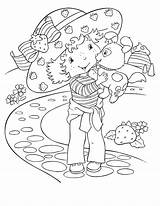 Strawberry Shortcake Coloring Pages Simple Characters sketch template