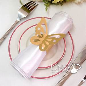 butterfly paper napkin ring wedding party shower favor With paper napkin rings for wedding