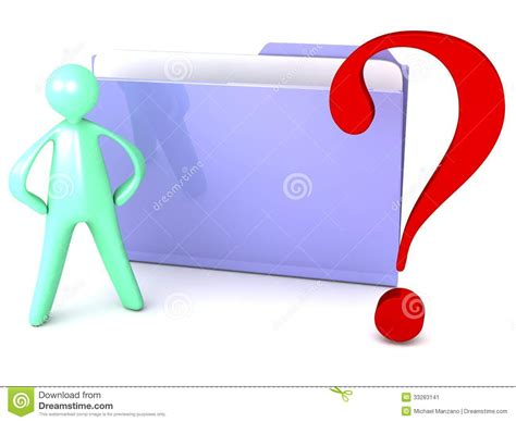 Unknown File Folder With Question Mark And Cartoon Stock