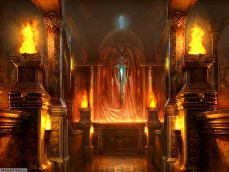 fire castle fantasy abstract background wallpapers
