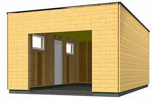 Garage Ossature Bois : garage en bois type ossature bois en toit plat id es ~ Melissatoandfro.com Idées de Décoration