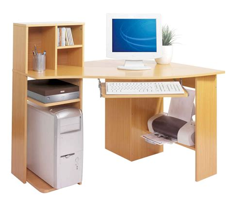 computer desk with printer shelf corner natural solid wood computer table with cd storage