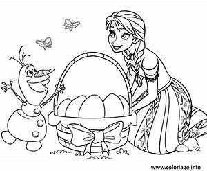 Dessin A Imprimer De Paques : coloriage paques a imprimer elsa et olaf reine des neiges ~ Melissatoandfro.com Idées de Décoration