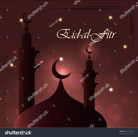 eidalfitr beauteous greeting postcard eid mubarak stock