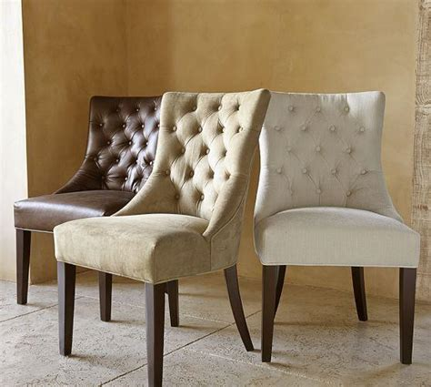 tufted chair pottery barn