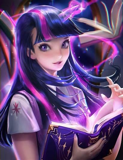 Pony Anime Twilight Sparkle Realistic Sakimichan Computer