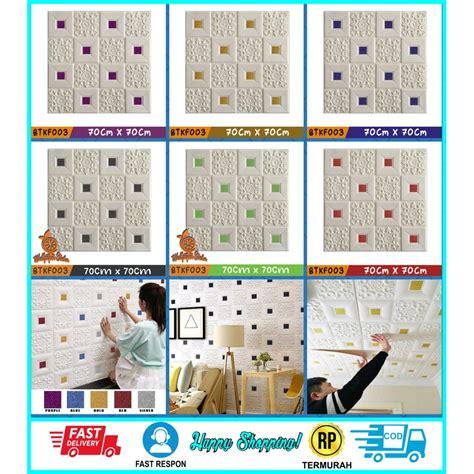 bayar ditempat wallpaper dinding batik foam